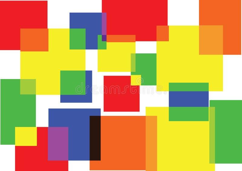2 kleuren maken meer 1 vector illustratie