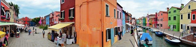Kleuren van Burano royalty-vrije stock fotografie