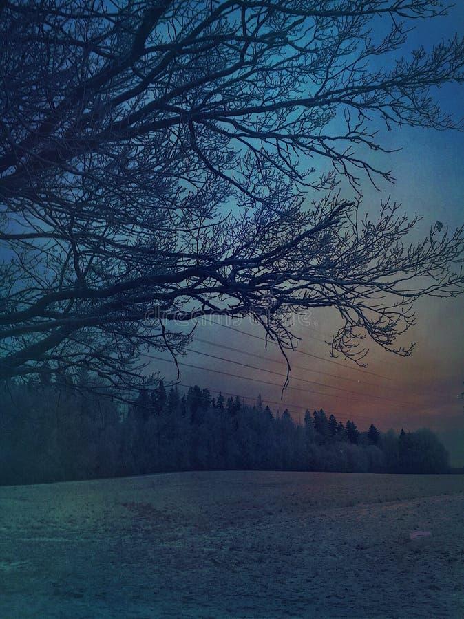 Kleuren van de hemel stock foto