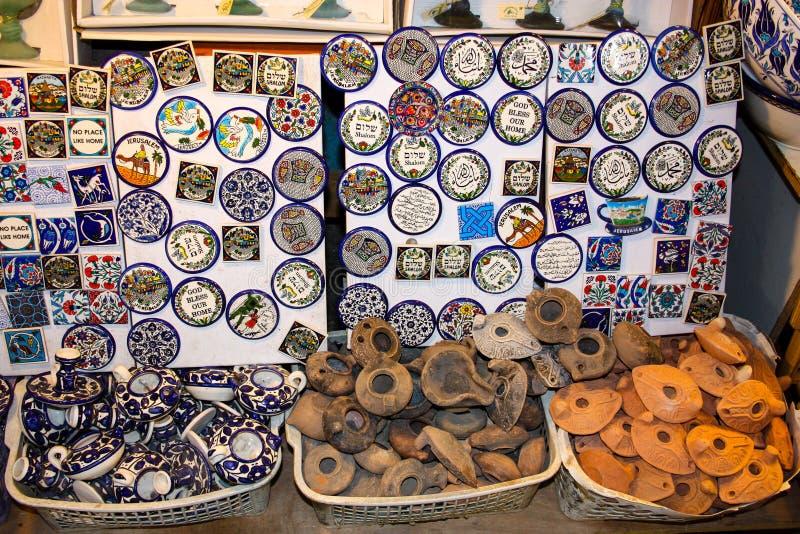 Kleuren van de oude bazaar van Jeruzalem royalty-vrije stock foto