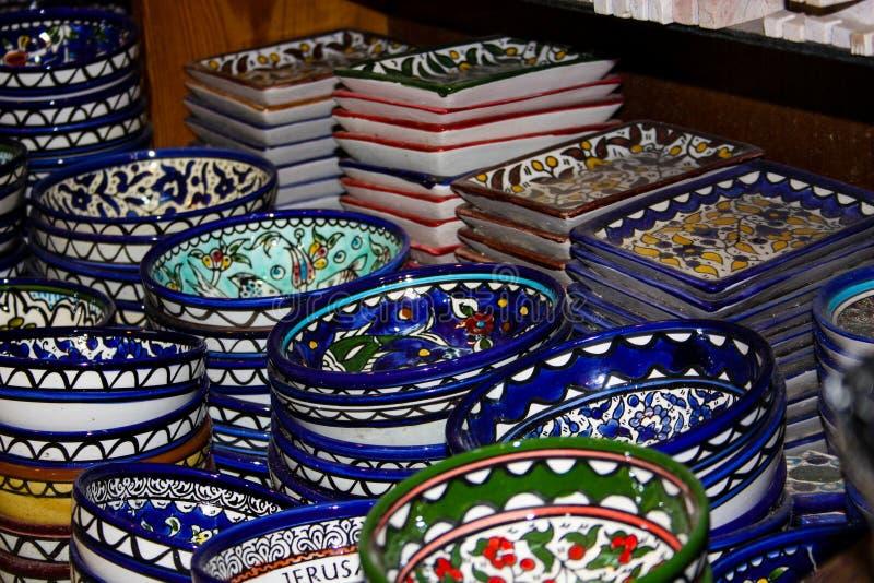 Kleuren van de oude bazaar van Jeruzalem royalty-vrije stock afbeelding