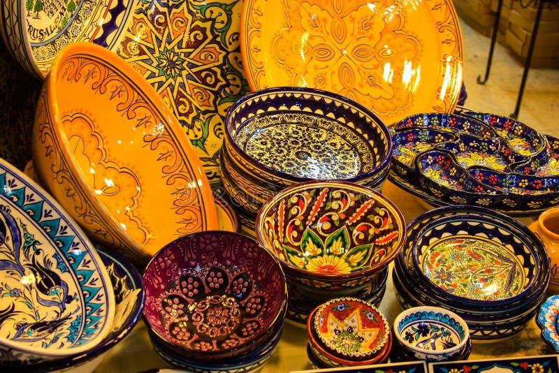 Kleuren van de oude bazaar van Jeruzalem stock afbeelding