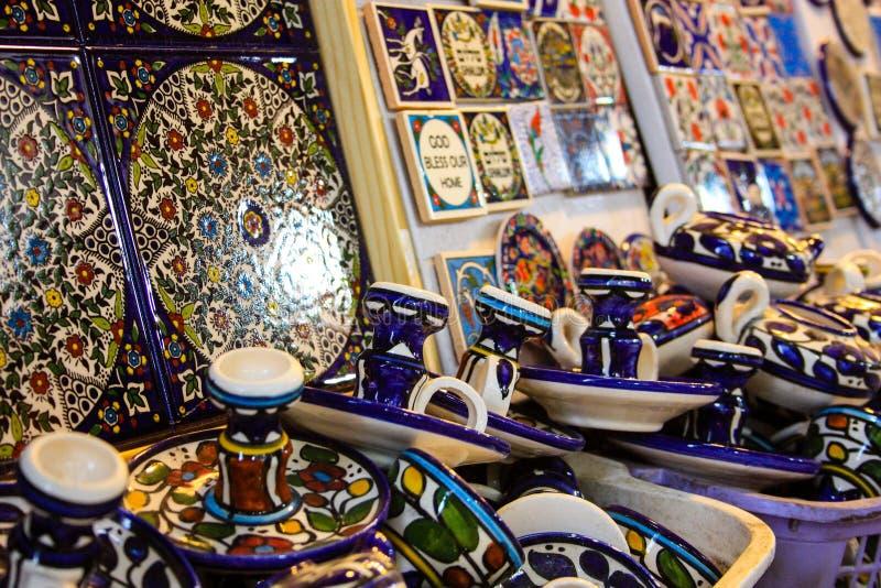 Kleuren van de oude bazaar van Jeruzalem royalty-vrije stock fotografie
