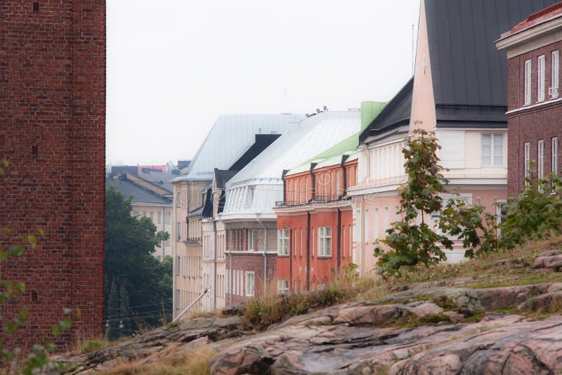 Kleuren van de stad stock afbeeldingen