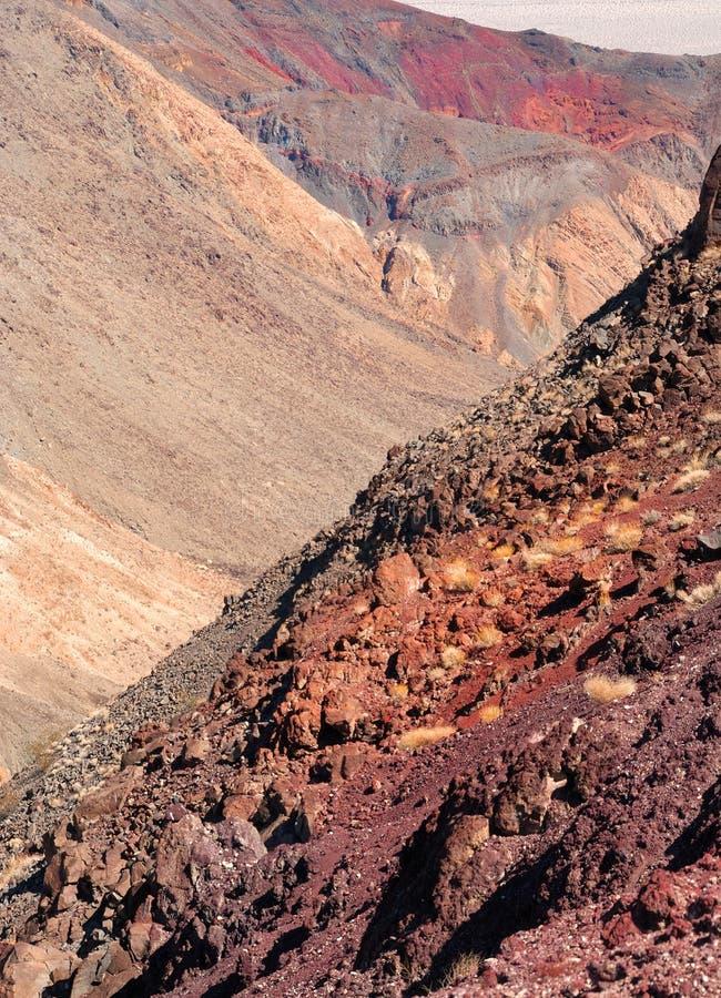 Kleuren van de Vallei van de Dood stock afbeelding