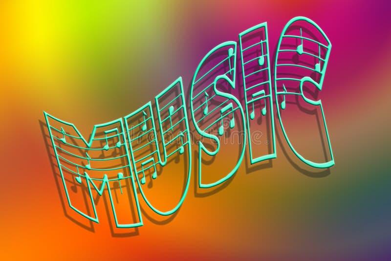 Kleuren van muziek vector illustratie