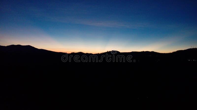 Kleuren van ochtendhemel royalty-vrije stock afbeelding