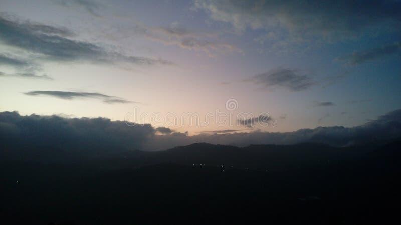Kleuren van ochtendhemel royalty-vrije stock foto