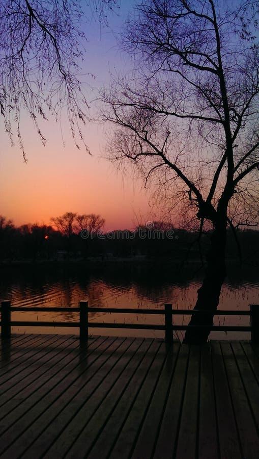 Kleuren van zonsondergang royalty-vrije stock foto's