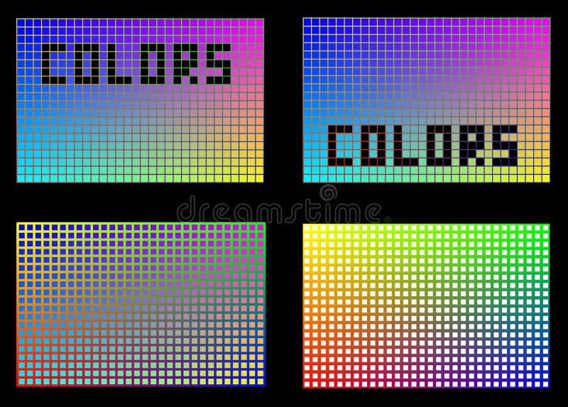 Kleuren in vierkanten royalty-vrije stock afbeelding