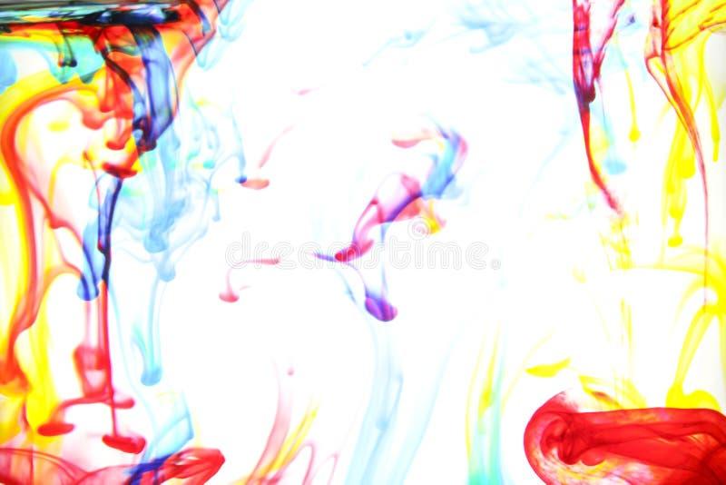 Kleuren in water stock foto's
