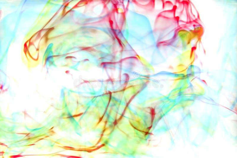 Kleuren in water royalty-vrije stock afbeeldingen