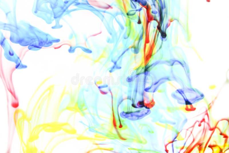 Kleuren in water royalty-vrije stock fotografie