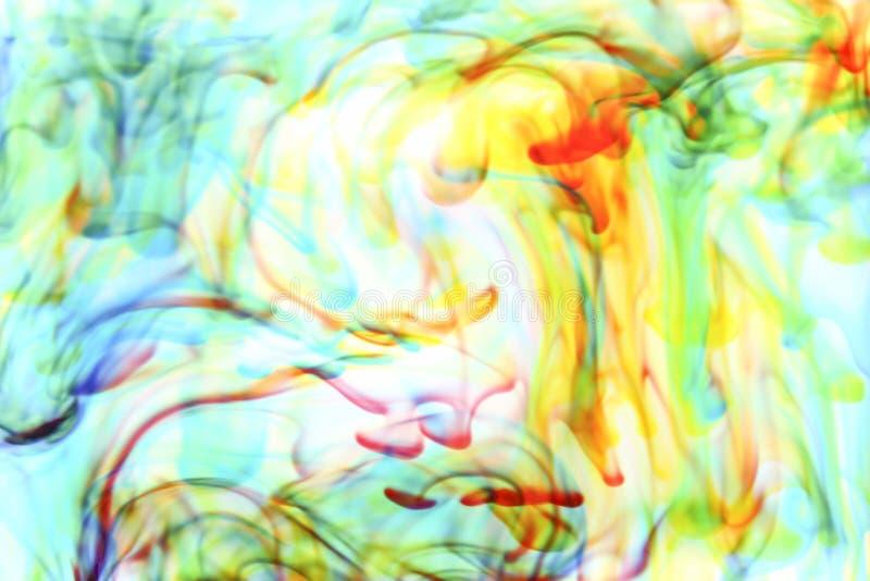 Kleuren in water stock foto