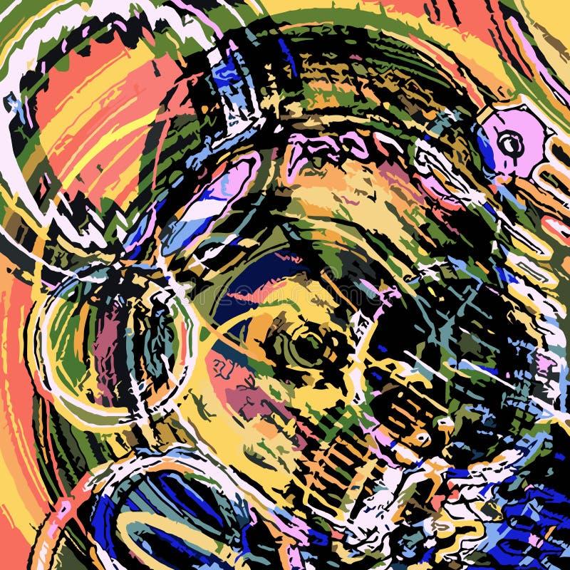 Kleurenachtergrond met abstracte cirkels royalty-vrije illustratie