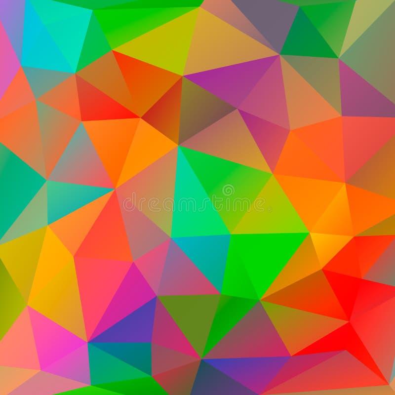 Kleurenachtergrond van veelhoek vector illustratie