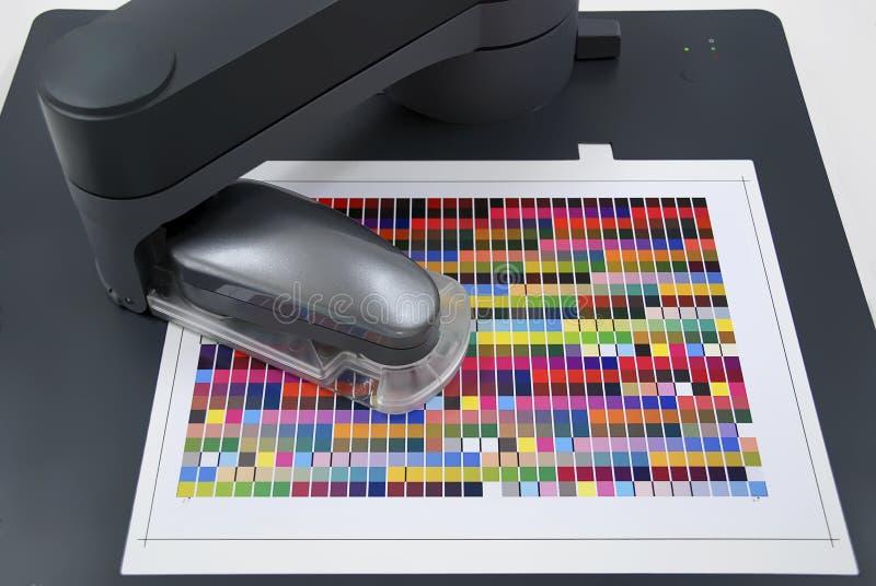 Kleurenbeheer/kleur profiler voor uitvoersystemen stock foto's