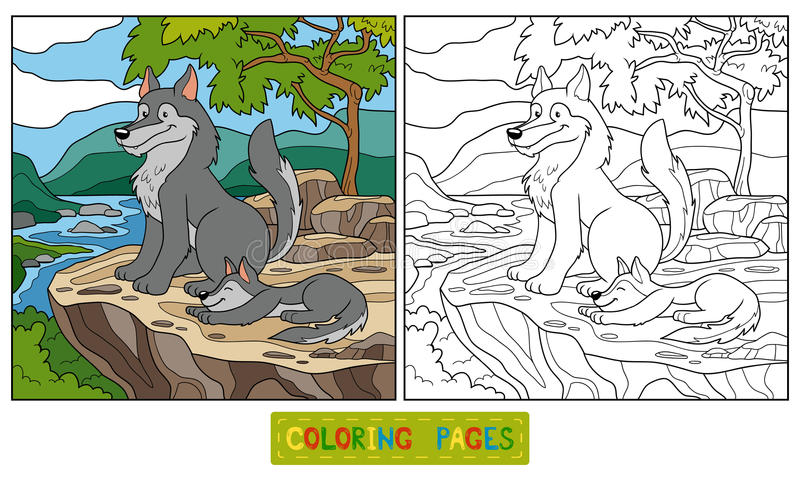 Kleurend boek stock illustratie