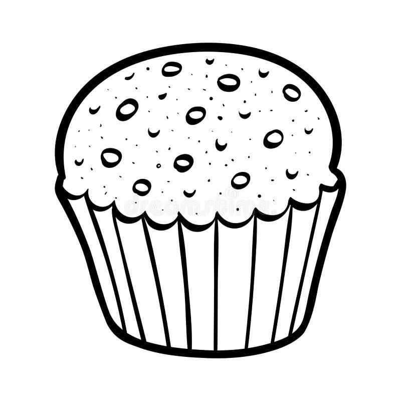 Kleurend boek, Cake vector illustratie