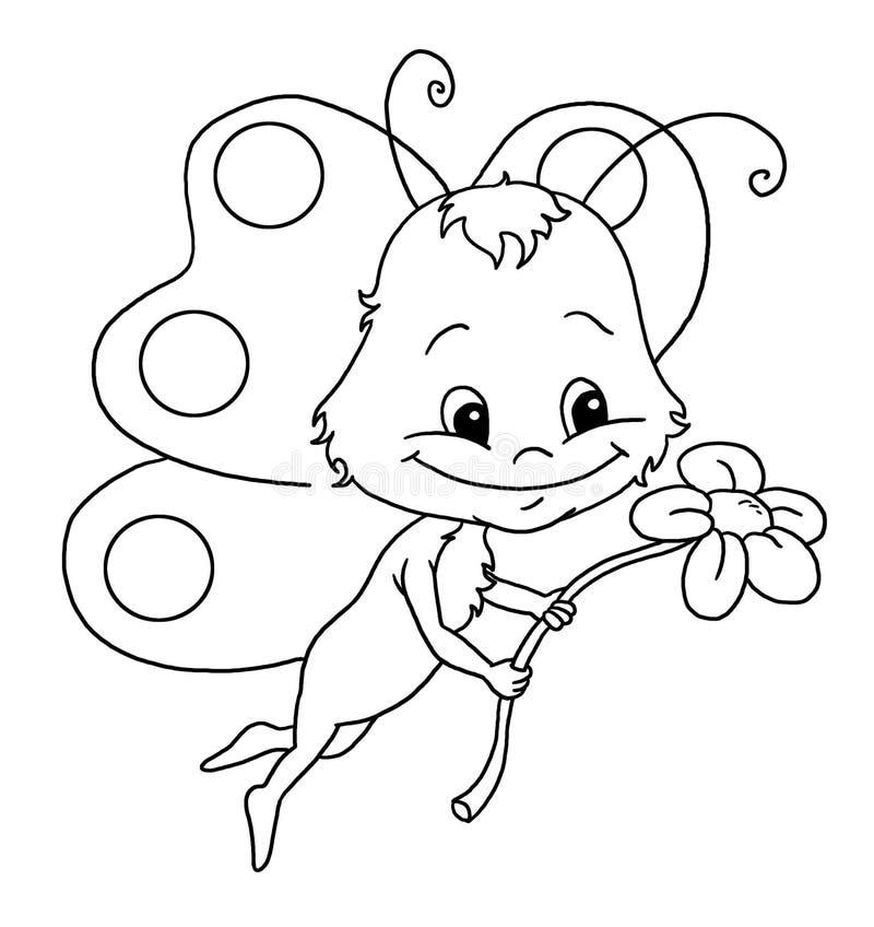 Kleurend boek, de vlinder vector illustratie