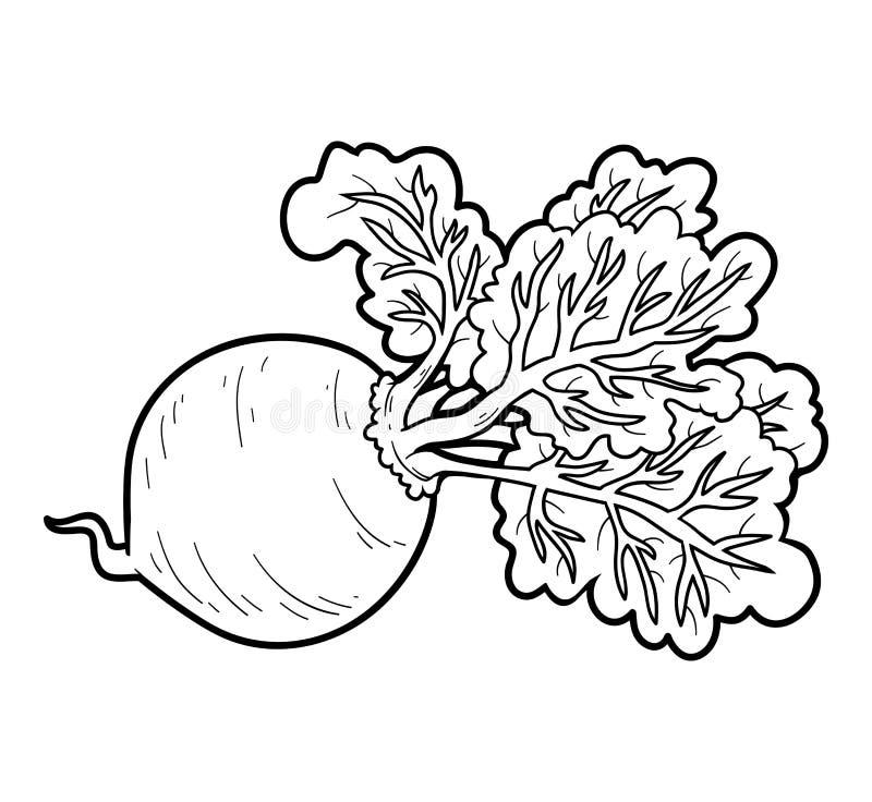 Kleurend boek, groenten, Biet stock illustratie