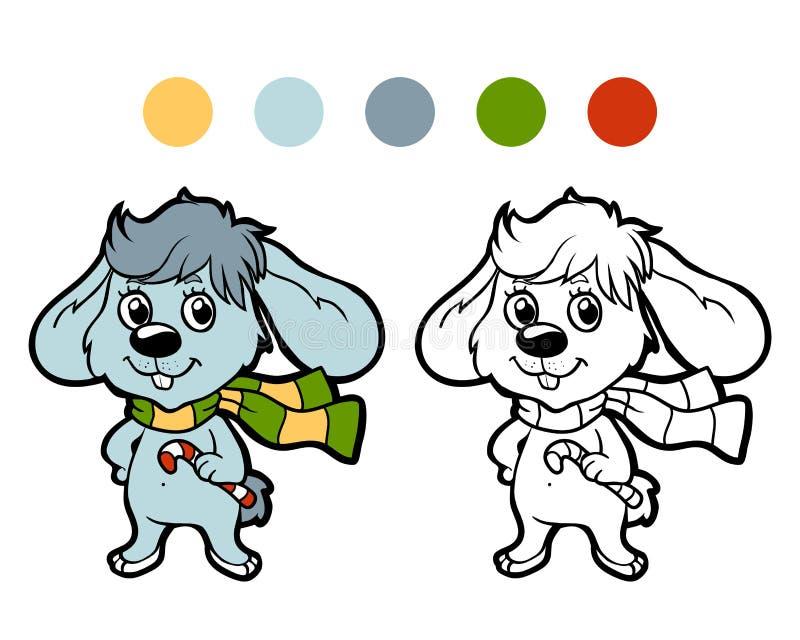 Kleurend boek: Het konijn van de Kerstmiswinter vector illustratie