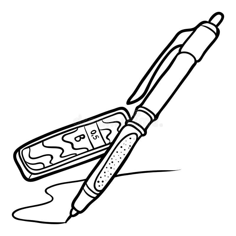 Kleurend boek, Mechanisch potlood met lood vector illustratie