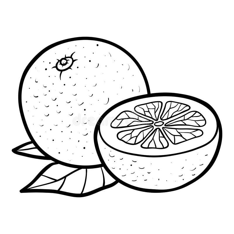 Kleurend boek, sinaasappel vector illustratie
