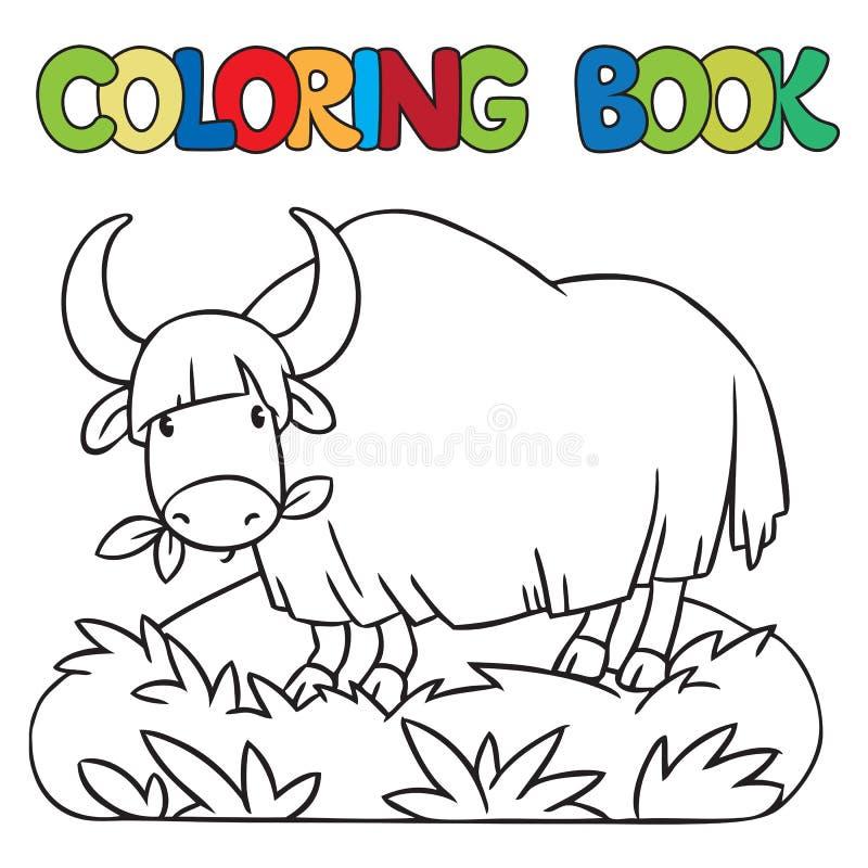 Kleurend boek van grappige wilde jakken royalty-vrije illustratie
