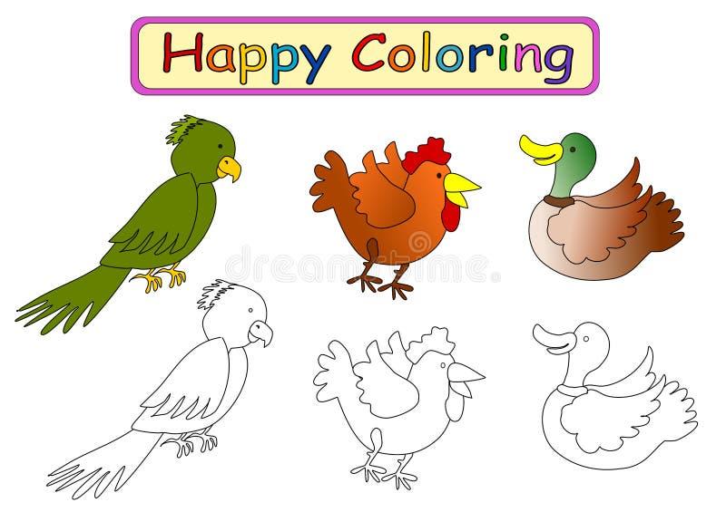 Kleurend boek voor jonge geitjes stock illustratie