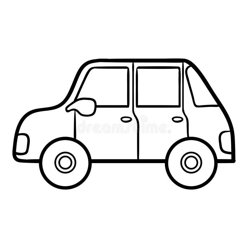 Kleurend boek voor jonge geitjes auto vector illustratie - Profili auto per colorare ...