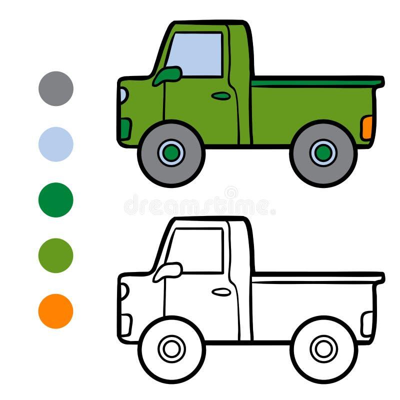 Kleurend boek voor jonge geitjes, Bestelwagen vector illustratie