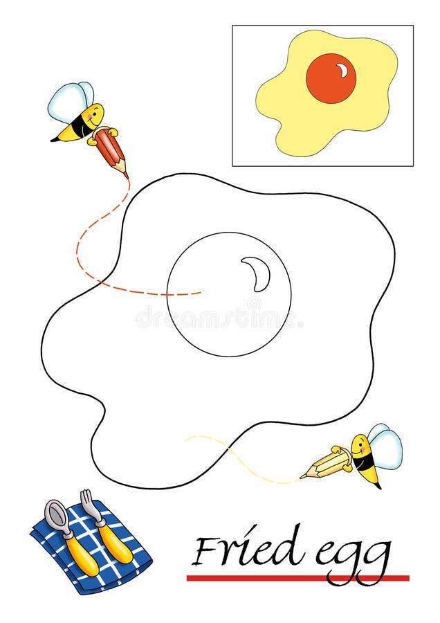 Kleurend boek voor kinderen, 1 stock illustratie