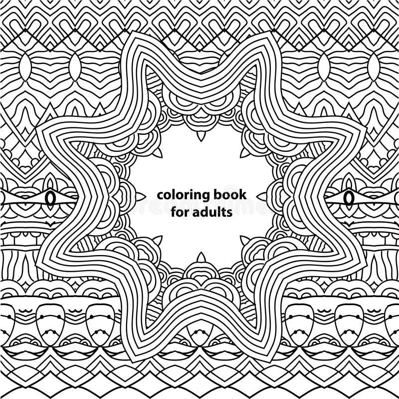 Kleurend boek voor volwassenen Abstracte zentanglepatronen royalty-vrije illustratie