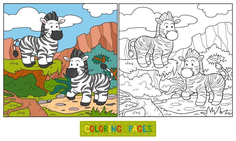 Kleurend (gestreept) boek stock illustratie