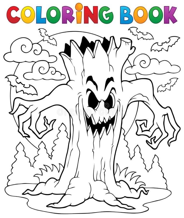 Kleurend karakter 7 van boekhalloween stock illustratie