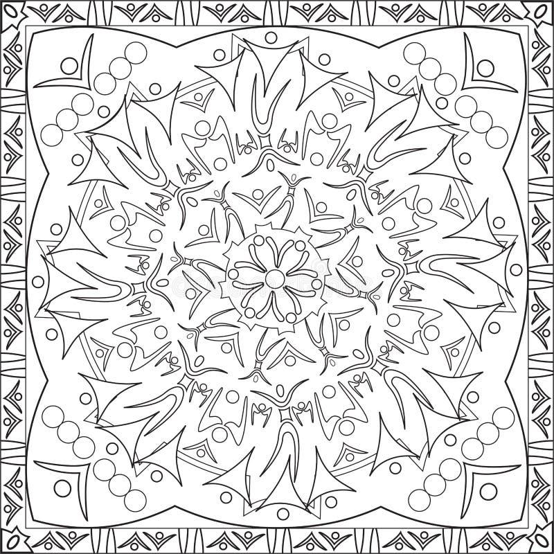kleurend paginaboek voor het silhouetcijfer mandala design