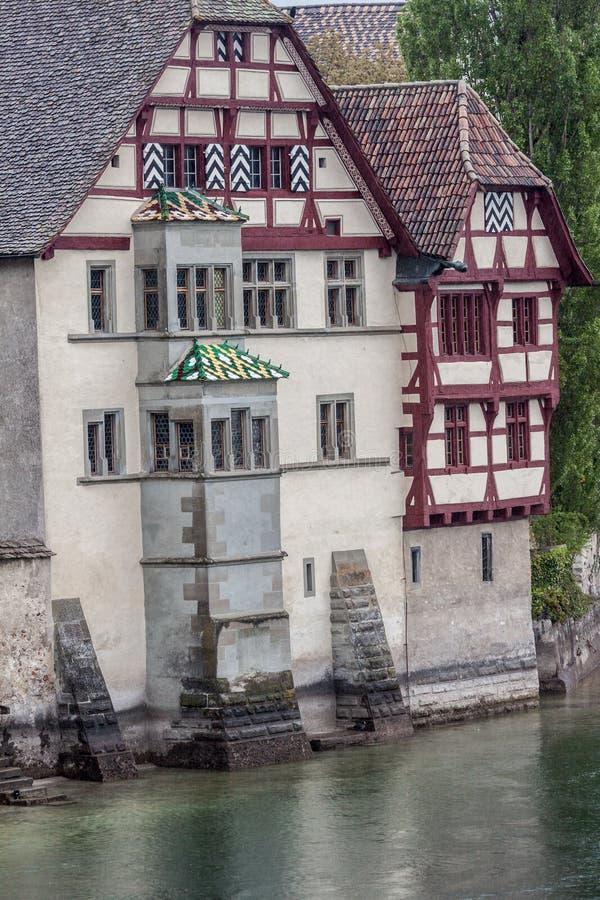 Kleurendak Stein am Rhein Zwitserland stock afbeeldingen