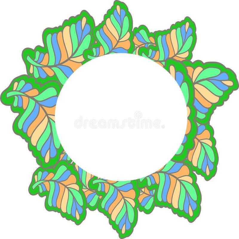 Kleurende antistress bloemen abstracte lege kaart royalty-vrije stock foto's