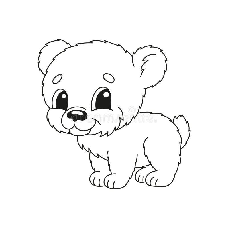 Kleurende boekpagina's voor jonge geitjes Leuke beeldverhaal vectorillustratie vector illustratie