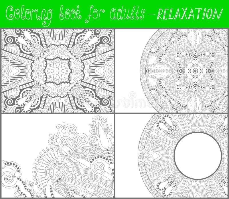Kleurende boekpagina voor volwassenen - bloem Paisley royalty-vrije illustratie