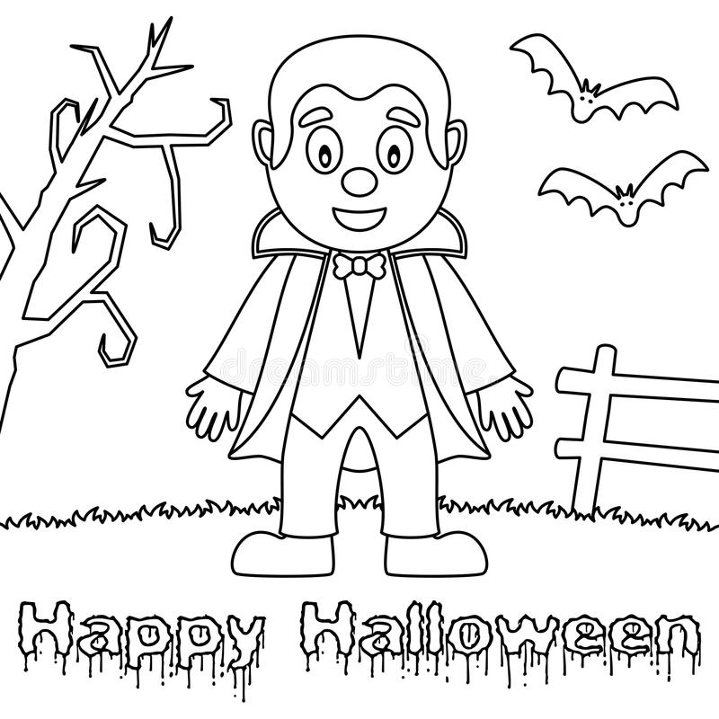 Kleurende Halloween-Monsters - Dracula royalty-vrije illustratie