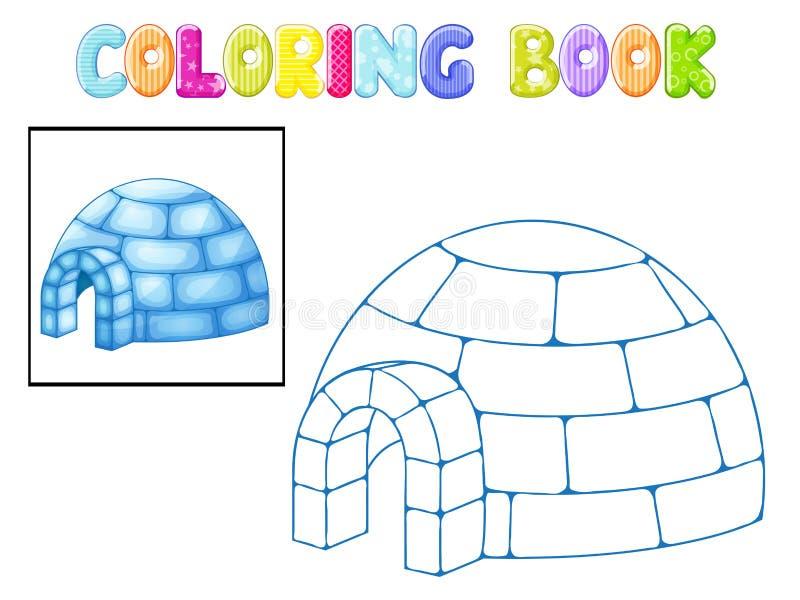 Kleurende iglo stock illustratie