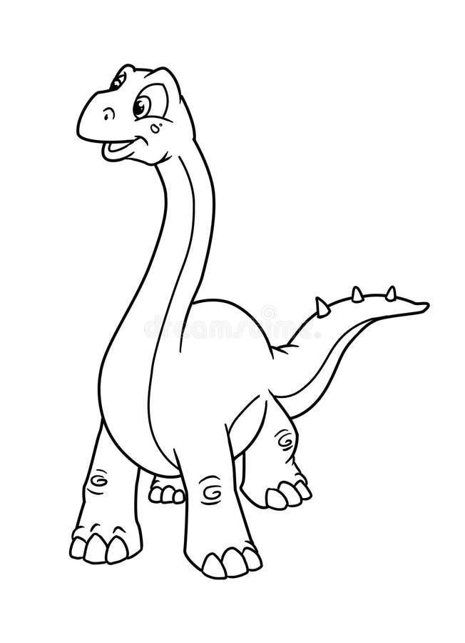 Kleurende pagina'sdinosaurus stock illustratie