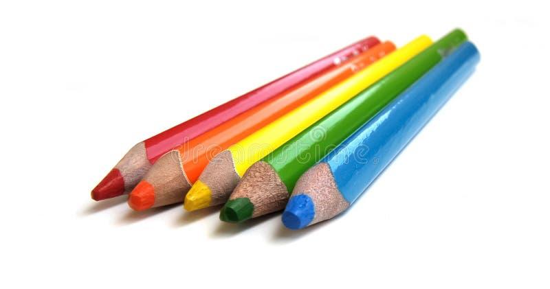 Kleurende potloden royalty-vrije stock afbeelding