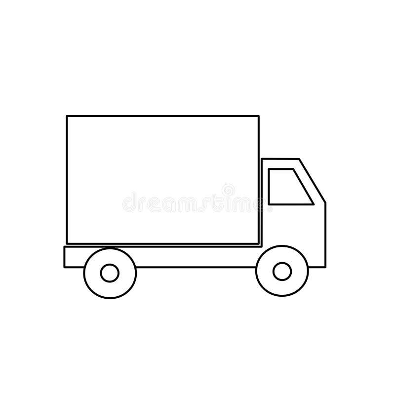Kleurende vrachtwagen vector illustratie
