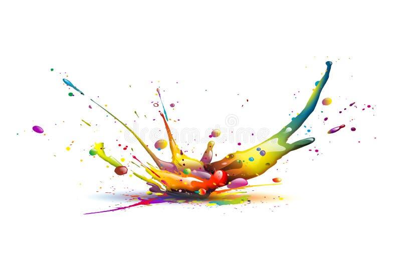 Kleurenexplosie stock illustratie