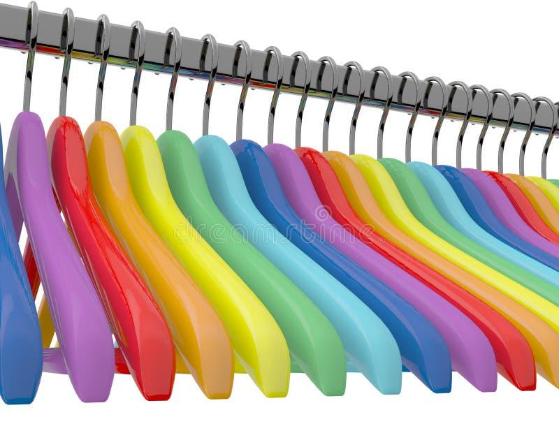 Kleurenhangers stock illustratie
