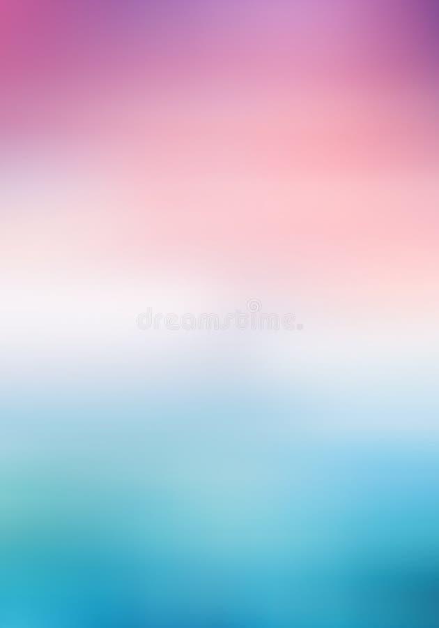 Kleurenhemel met wolken De hemel van de ochtendzonneschijn onder water stock afbeeldingen