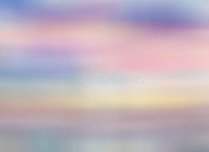 Kleurenhemel met wolken Ochtend of avondhemel onder water royalty-vrije stock foto's
